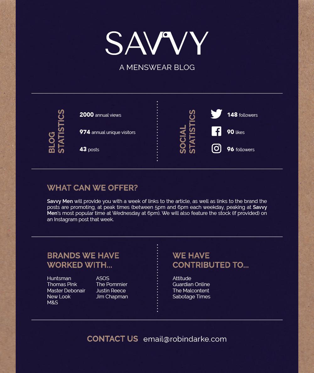 Savvy Men Media Pack