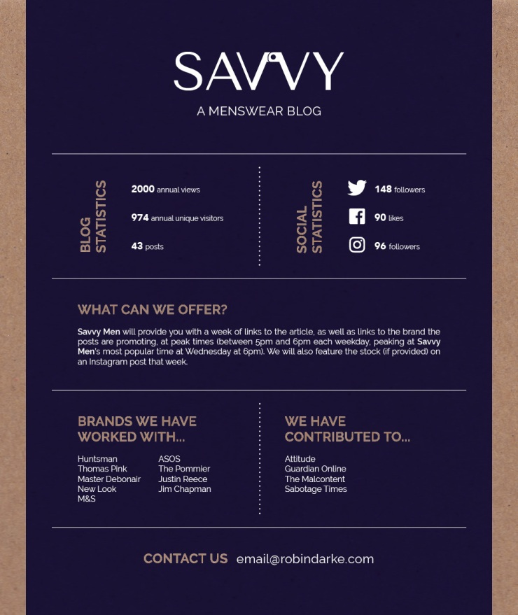 Savvy Men Media Pack