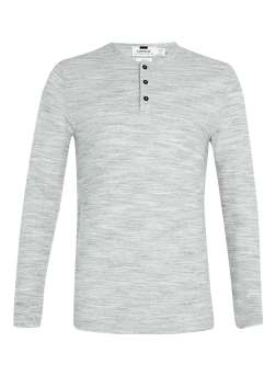 Grey waffle grandad t-shirt - Topman £18