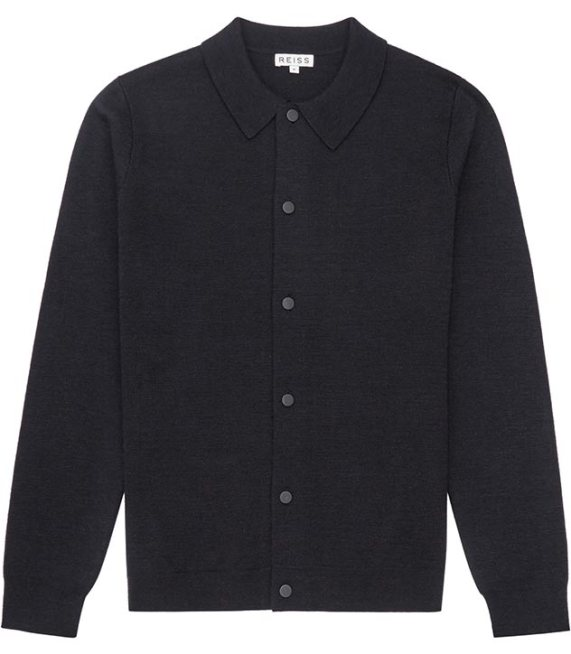 'Flow' navy knitted jacket - Reiss - £145