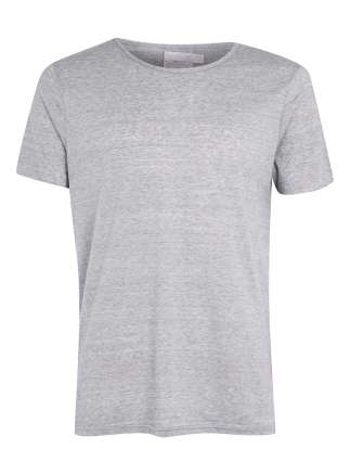 Light blue slim fit raw scoop t-shirt - Topman - £18