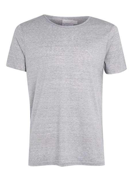 Light blue slim fit raw scoop t-shirt - Topman - £18