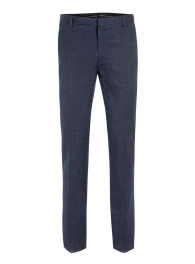 Navy wool blend flannel skinny suit trousers - Topman - £55