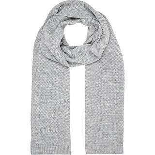Grey knitted scarf - River Island - £14