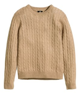 Wool-blend cable knit jumper - H&M - £29.99