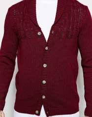 Cable knit cardigan with shawl neck - ASOS - £38