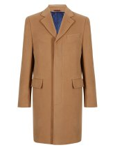 Italian Fabric Wool Rich Coat with Cashmere - M&S - £175
