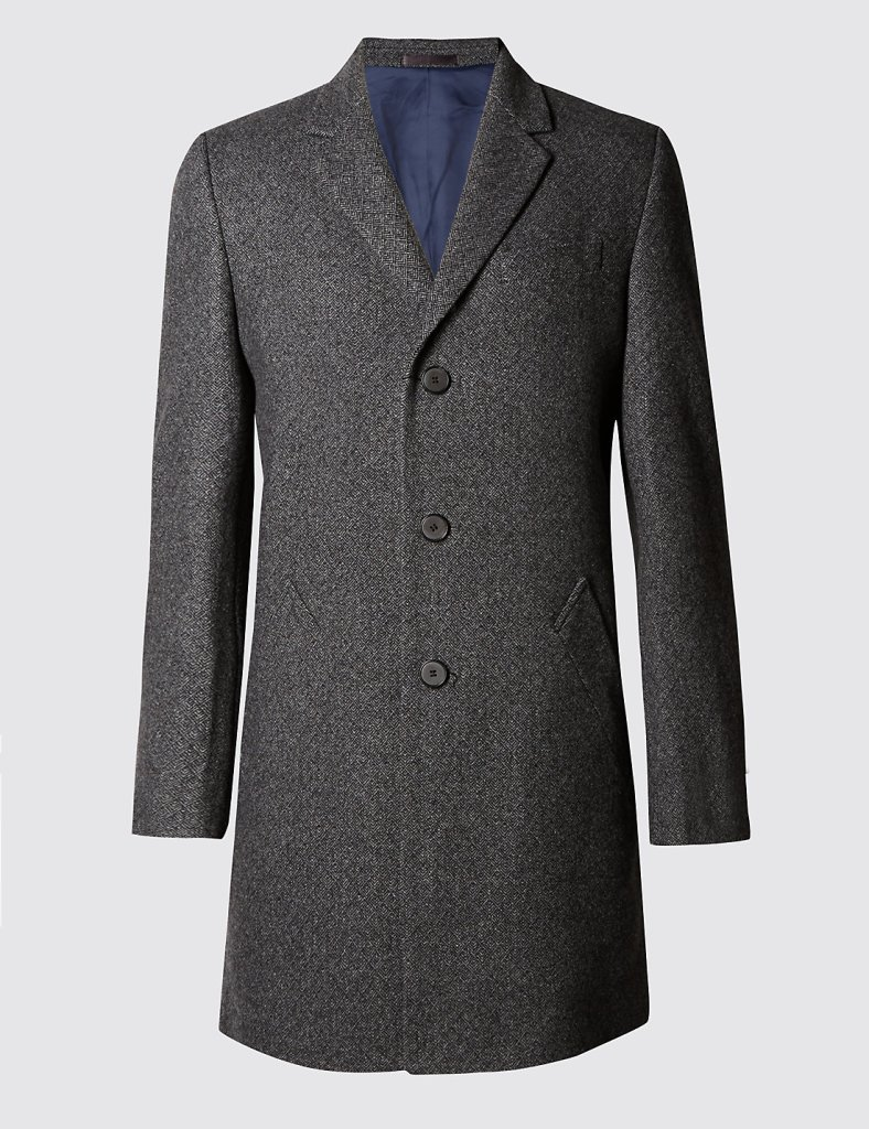 Italian fabric wool overcoat - M&S - £179