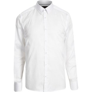 White slim point collar - River Island - £30