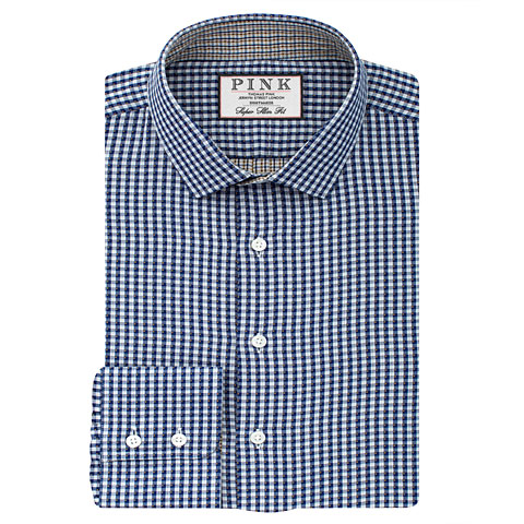 Pauling Check Super Slim Fit Button Cuff Shirt £115