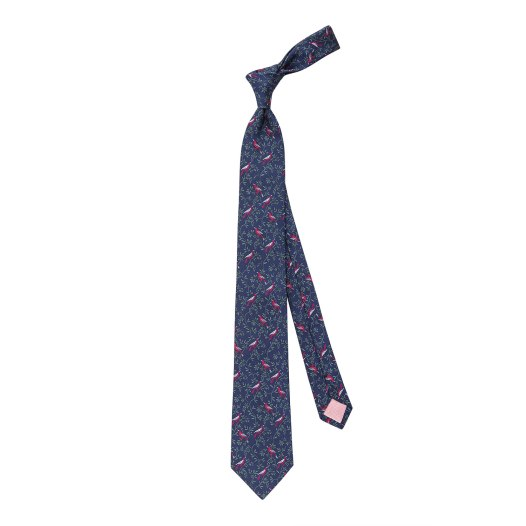 Bird On Branch Woven Tie - £69